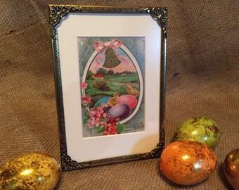 Vintage Framed Easter Postcard Greetings