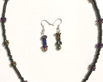 Extraterrestrial necklace/earring set
