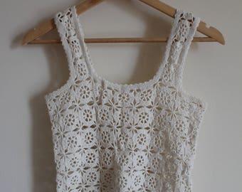 Vintage Crochet-hook Top