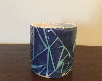 Blue Abstract Cylinder