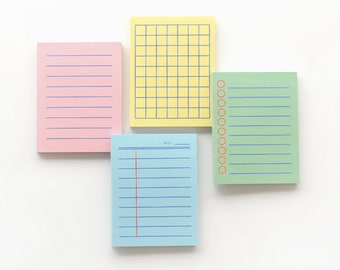 Kawaii Mini size Memo pad / 4colors[Blue,Yellow,Pink,Green] / 05-m