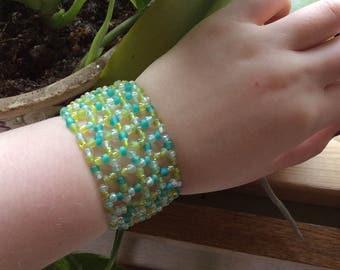 Glass Bead Woven Bracelet