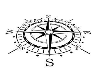Sky Compass Graphics SVG Dxf EPS Png Cdr Ai Pdf Vector Art Clipart instant download Digital Cut Print File Cricut Silhouette Decal Vinyl