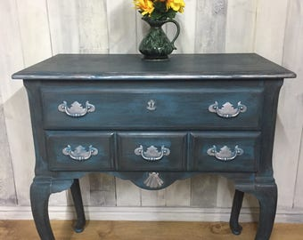 Hand Painted Queen Anne Drawers/Console