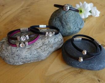 Flat Leather Bracelets