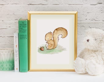 Gender Neutral Nursery Decor - Baby Girl Nursery - Woodland Animal Prints - Woodland Nursery - Woodland Creature Baby - Nursery Wall Art