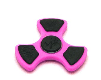 3D Printed Fidget Spinner (Pink/Black)