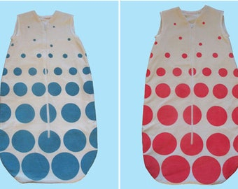 baby sleeping bag polka dot