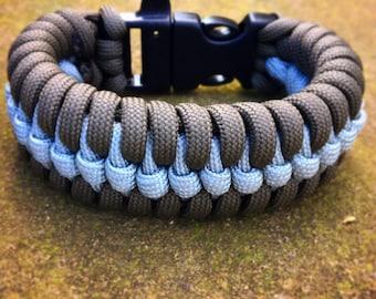 Survival paracord bracelet, Custom made raid weave