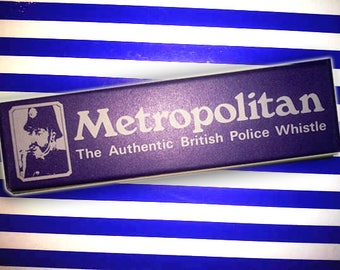 British Police Whistle New Old Stock Metropolitan The Authentic British Police Whistle