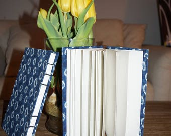 Handmade blue sketch book/ journal