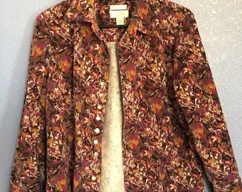 Vintage button up blazer jacket// 80s 90s blazer// long-sleeved button up// Christopher & Banks blazer