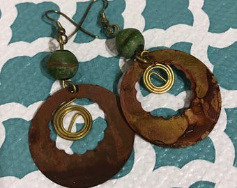 50% OFF | Vintage | Unique Copper Earrings