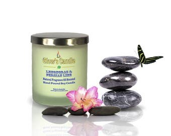 Lemongras & Persian Lime Soy Wax Candle
