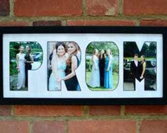 PROM letters photo frame - Great Teen Gift!