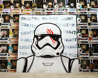 "Star Wars Stormtrooper FN-2187 ""Traitor"" Painting"