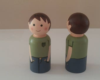 Wooden peg dolls children