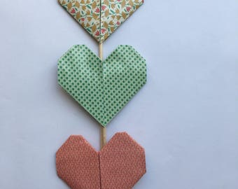 Bouquet of 3 decorative hearts