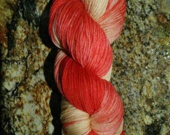 """Hand dyed 100% Super soft Merino wool sport weight """"Summer blush"""" 50g mini-skein"""