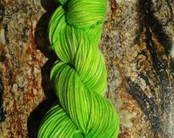 "100% Merino Wool, soft and squishy DK weight yarn. ""Green Apple"""