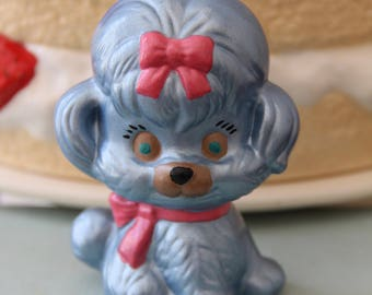 Kitschy Dog Figurine - Vintage Dog Figurine - Vintage Puppy Figurine - Kitschy Puppy Figurine - Dog Figurine - Kitschy Knick Knack - Puppies