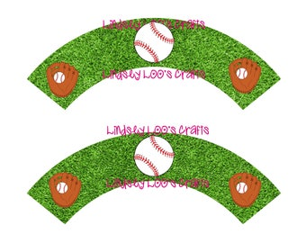 Baseball Cupcake Wrappers, Sports Cupcake Wrappers, Cupcake Wrappers