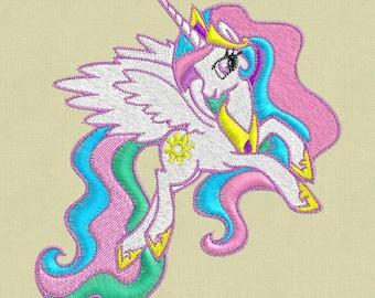 Embroidery design My Little Pony Celestia 4x4 hoop