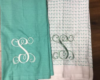 Personalized  Initial Dish Towel