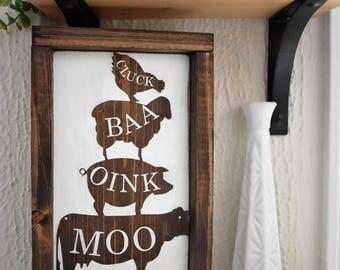Cluck, Baa, Oink, Moo