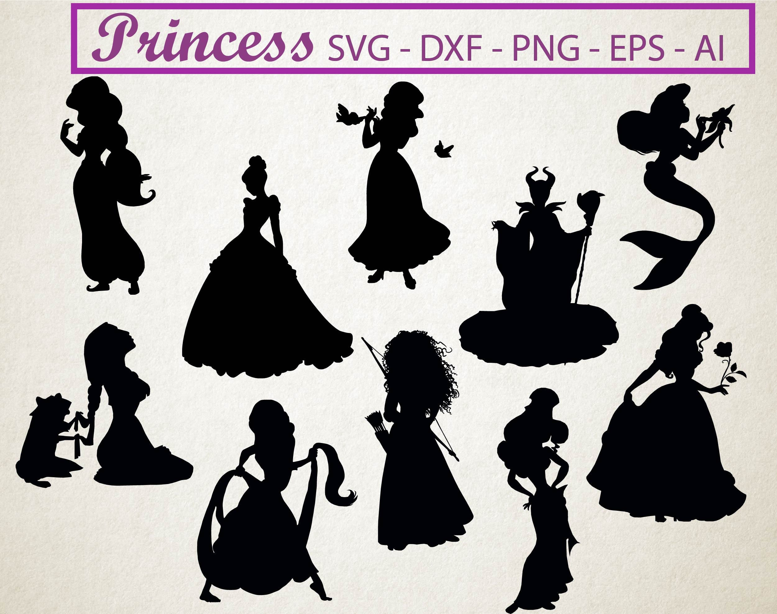 70  OFF Disney princess svg silhouette clipart pack Cinderella
