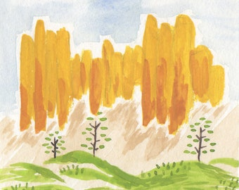 Bryce Canyon National Park Watercolor