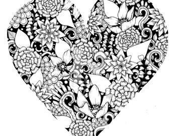 Print: Heart