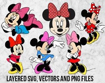Minnie Svg, Minnie mouse Clipart, Disney Minnie dxf, Minnie mouse png, Minnie applique, DIsney minnie printable, Minnie Cut file, Minnie eps