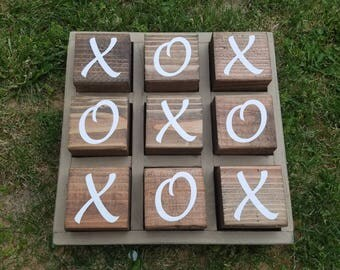 Wood Tic Tac Toe Game For Indoor Or Outdoor Use