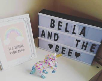 Be A Unicorn nursery frameless print A5/A4
