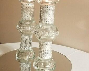 Votive candle holder with rhinestone (2 candleholders)