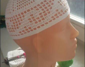 Muslim cap. White skullcap. Kufi. Muslim hat. Summer hat. Crocheted hat. Cotton hat. Men hat. Тюбетейка. мусульманская шапка. Pray hat