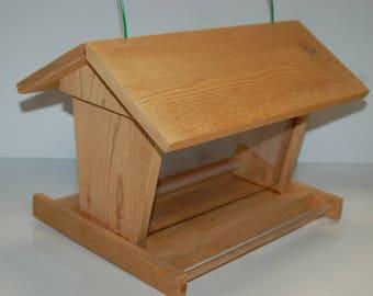 Handcrafted Cedar Bird Feeder w/ see through Lexan & Weather Resistant Hardware