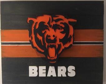 Chicago Bears Custom 3D Wood Sign
