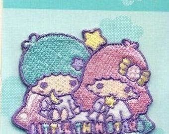 SANRIO Little Twin Stars KIKILALA Embroidered patch 6 cm × 6 cm KAWAII from Japan