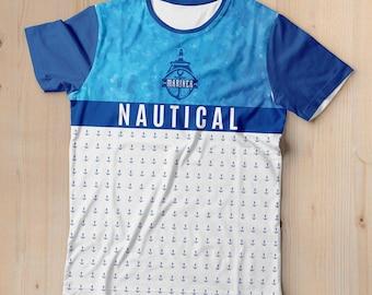 Nautical  anchor pattern t-shirt