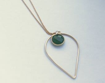 Necklace drop in Gold Filled 14 carats