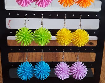 Colorful Spike ball earrings