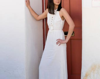 Arianna White Maxi Dress