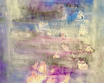 Lavender Dream. Fine art print of a Provence lavender field inspired painting.