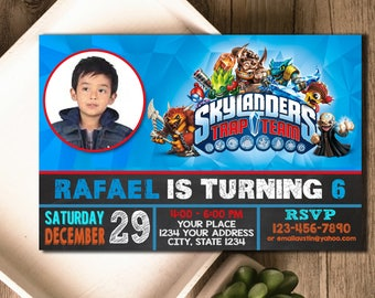 Skylanders Invitation / Skylanders Birthday / Skylanders Party / Skylanders Invite / Skylanders Birthday Invite / Skylanders Party Invite