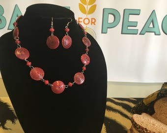 Red Swirl Necklace