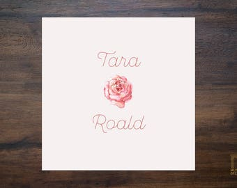 Wedding Invitation. Red Rose. Luxury Classy Minimal. Downloadable and Printable Template