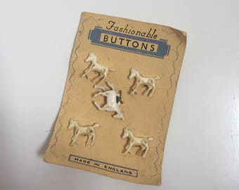 1930s childrens horse buttons