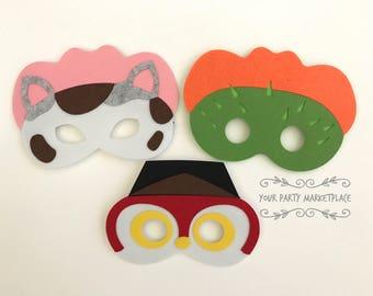 SET OF 3 Sheriff Callie Party Masks, Sheriff Callie Party Favors, Sheriff Callie Birthday, Sheriff Callie Party, Sheriff Callie